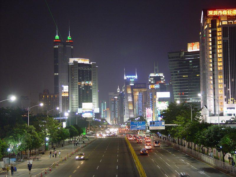 Shenzhen-ciudad-china-drones
